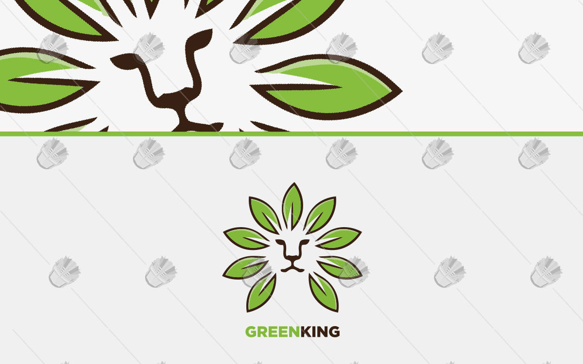 green leaf lion logo for sale