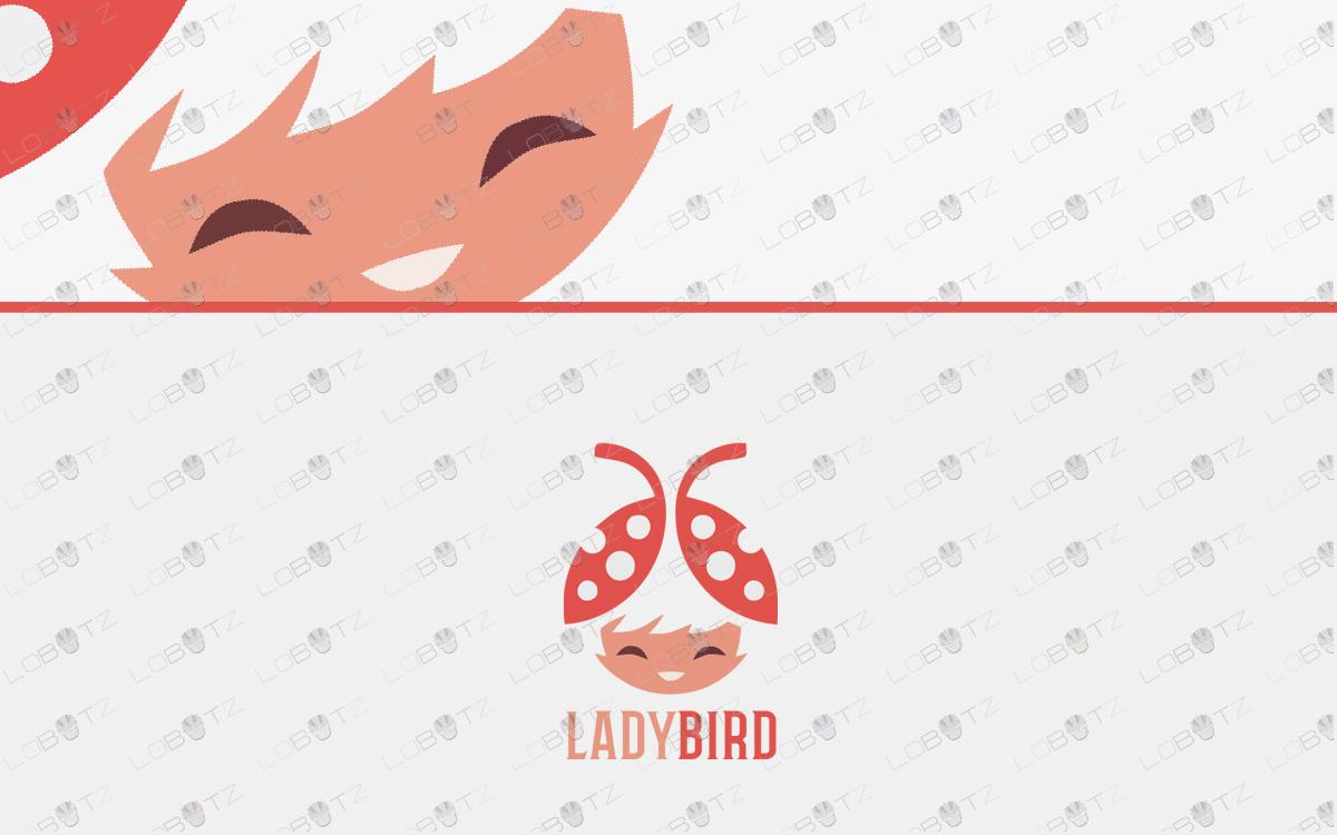 pretty lady bird girl logo for sale