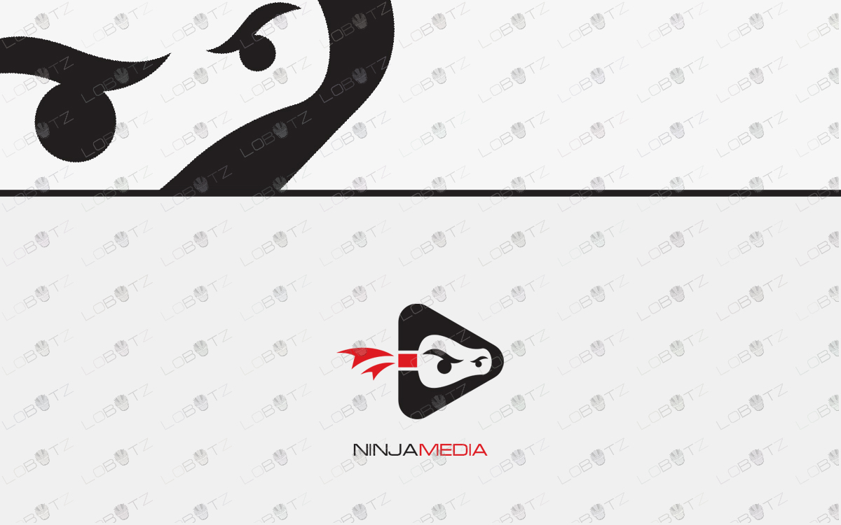 ninja logo for sale media logo entertainment logo