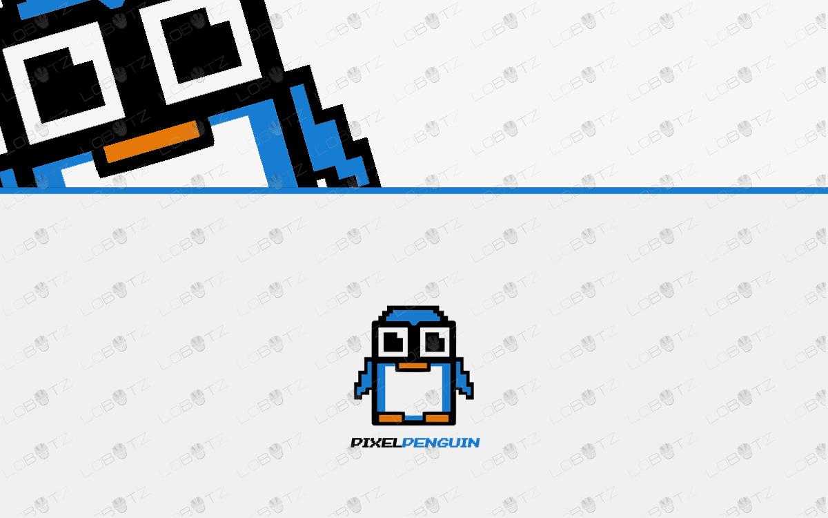 penguin gaming pixel logo