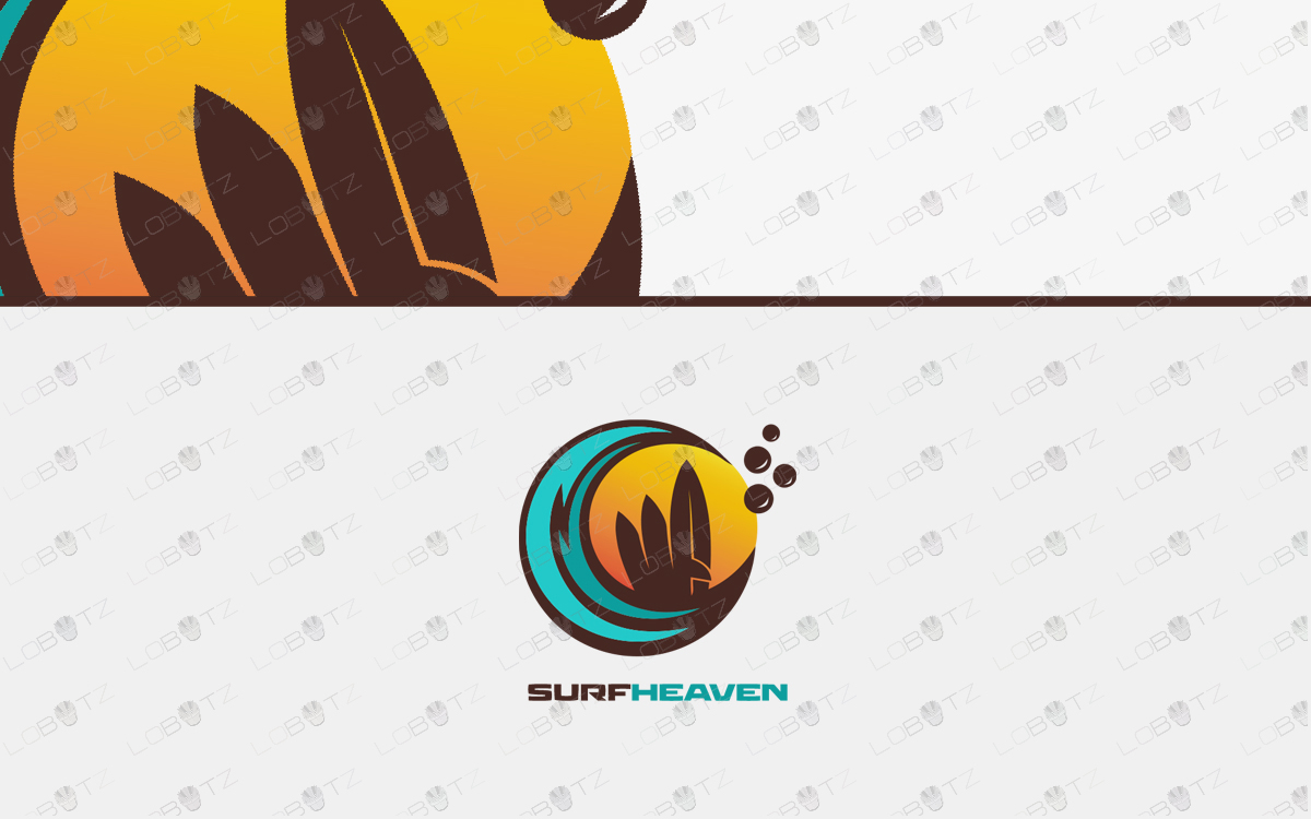 surfing logo for sale