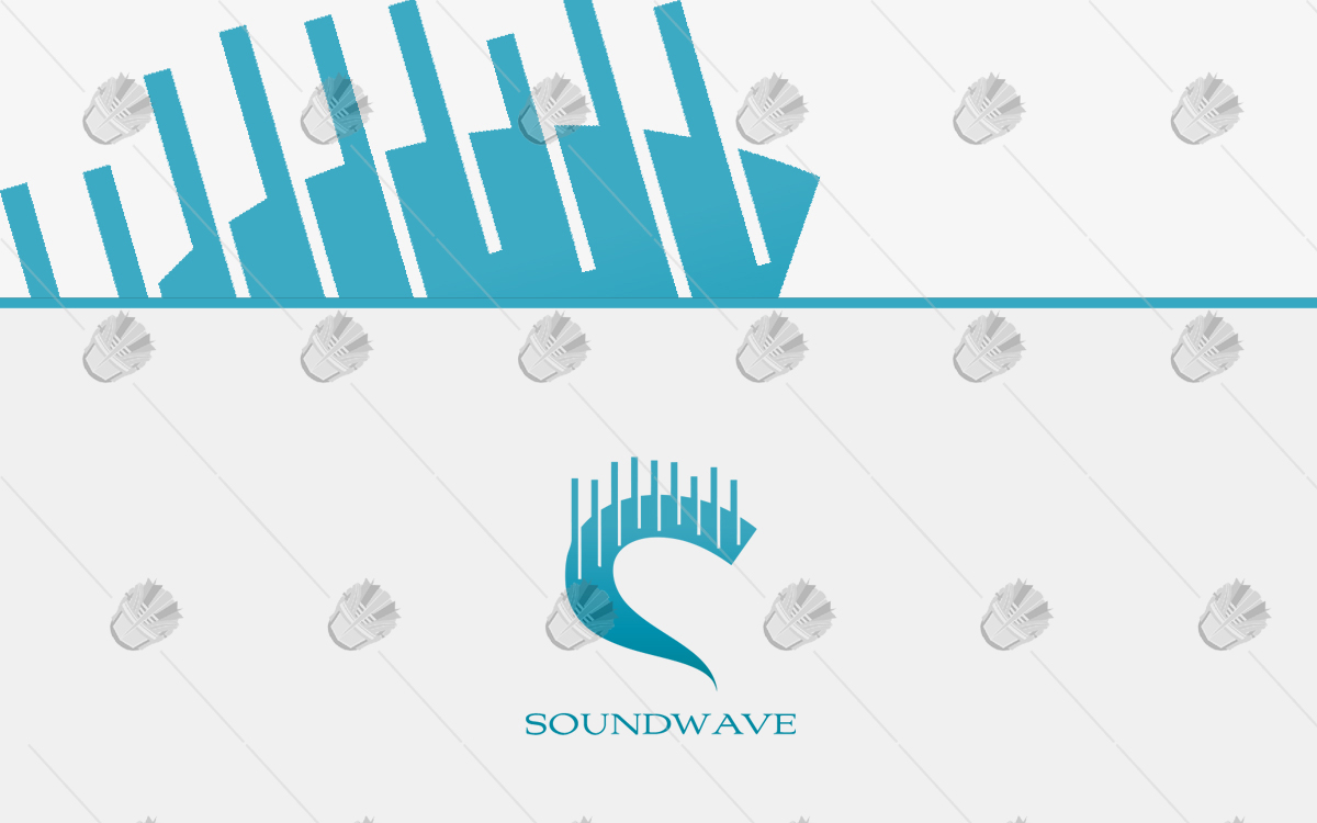 sound wave logo for sale