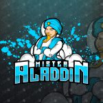 Aladdin Mascot Logo | Aladdin eSports Logo For Sale