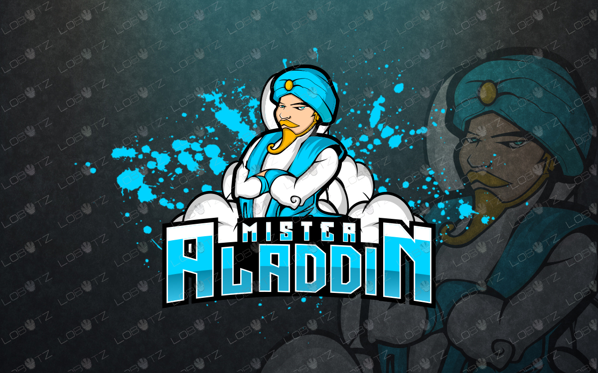 Aladdin mascot logo aladdin esports logo