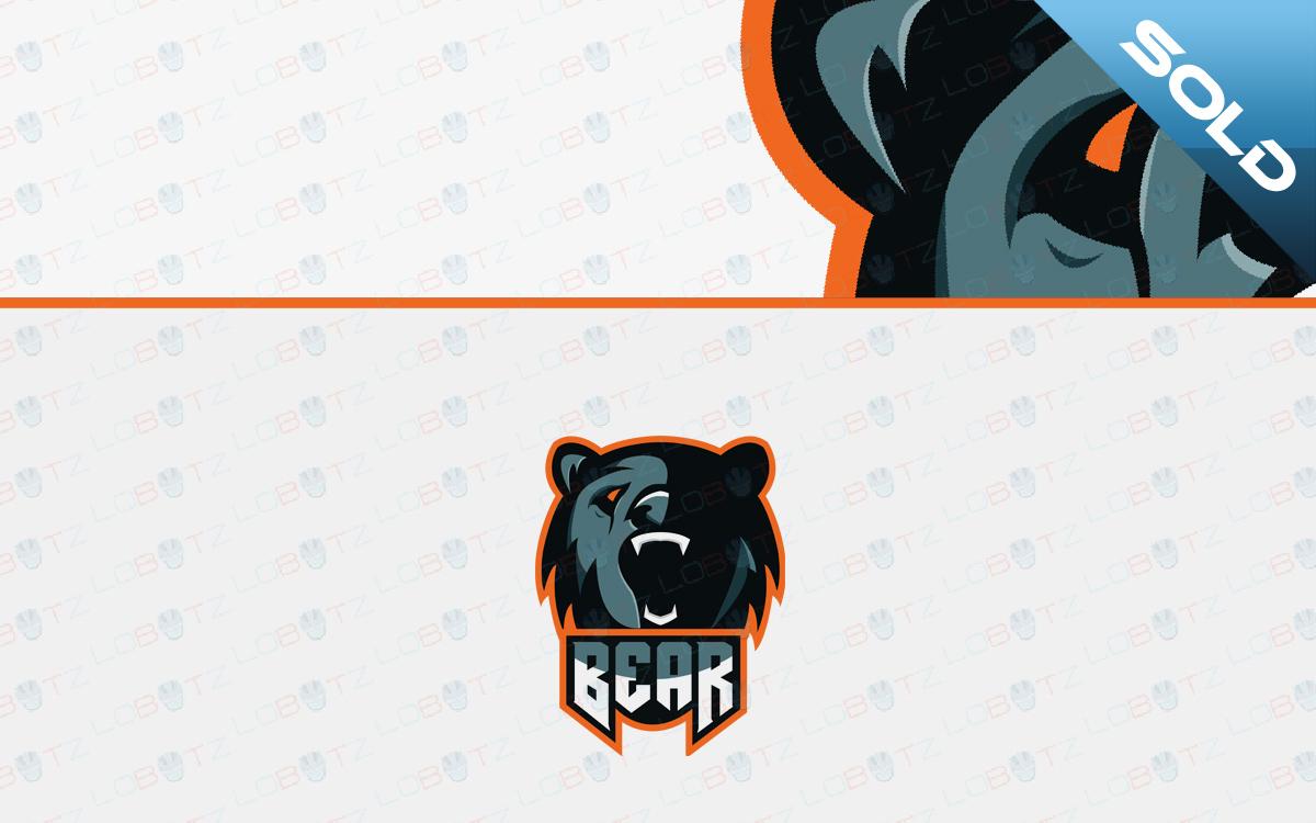 bear mascot logo premade