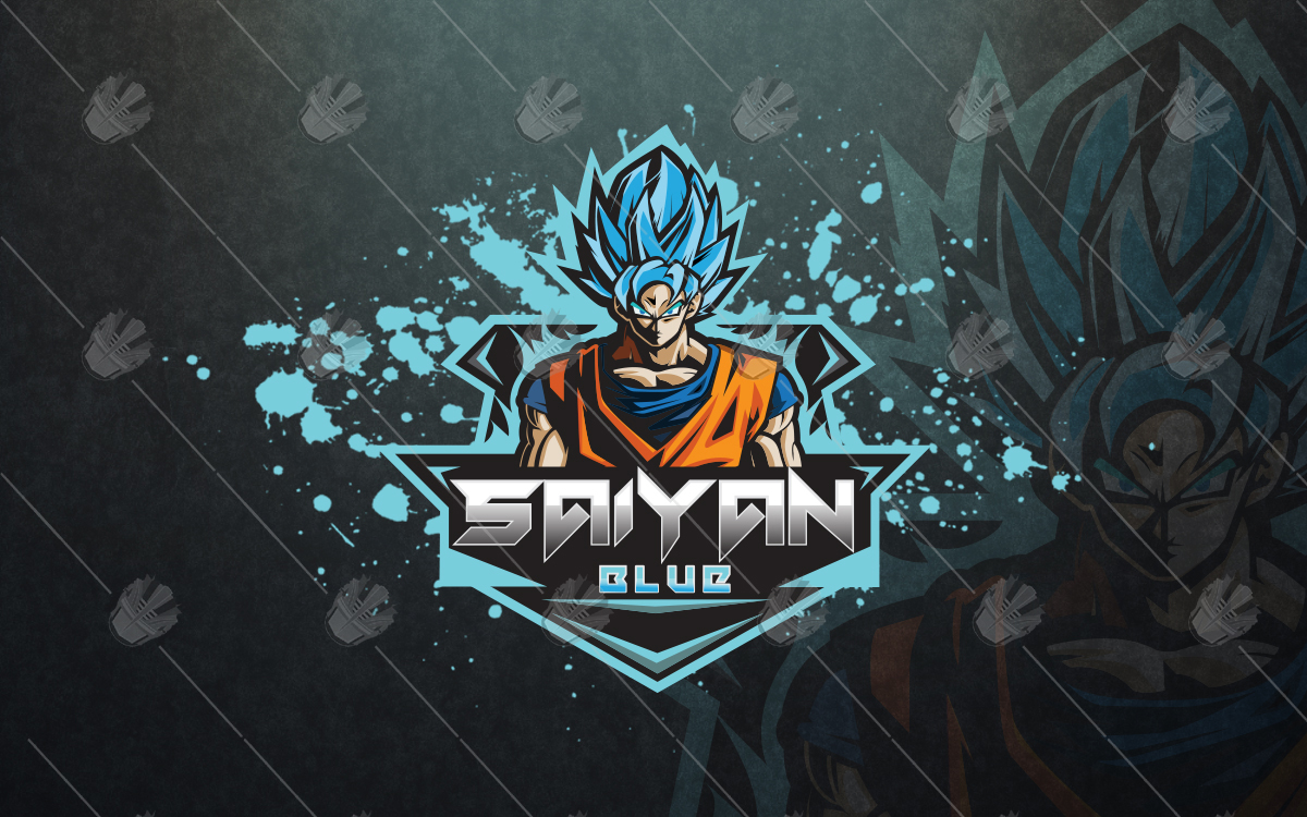 dragon ball z saiyan esports logo for sale