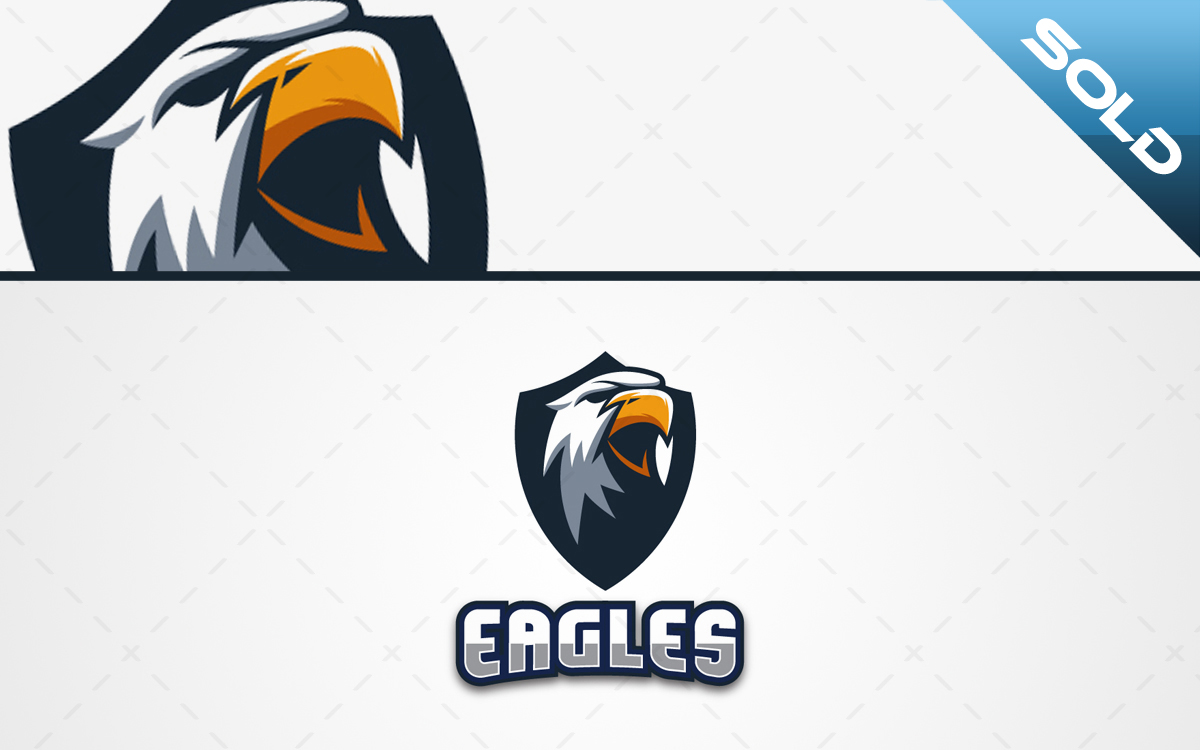 Eagle crest mascot logo for sale