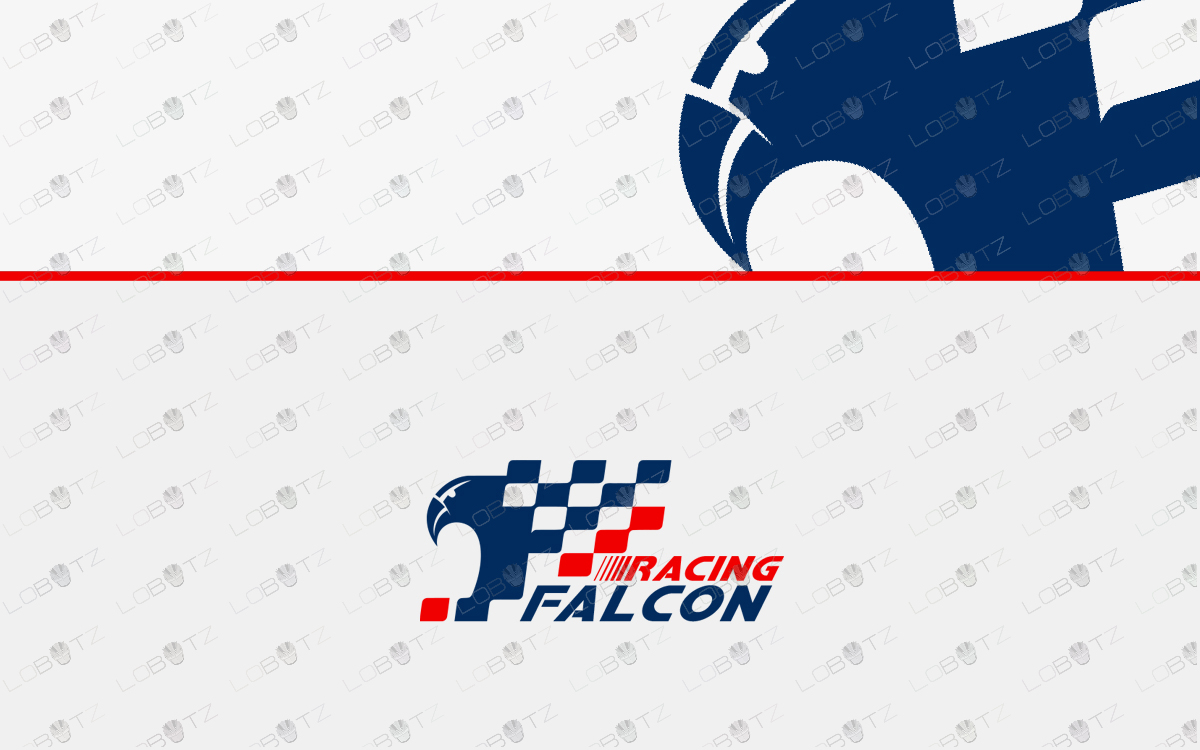 Falcon racing logo for sale