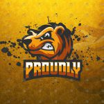 Angry Grizzly Bear eSports Logo | Bear Mascot Logo For Sale
