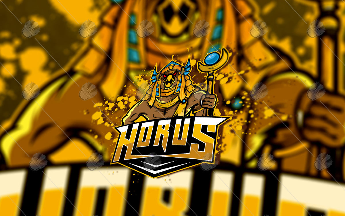 horus mascot logo horus esports logo