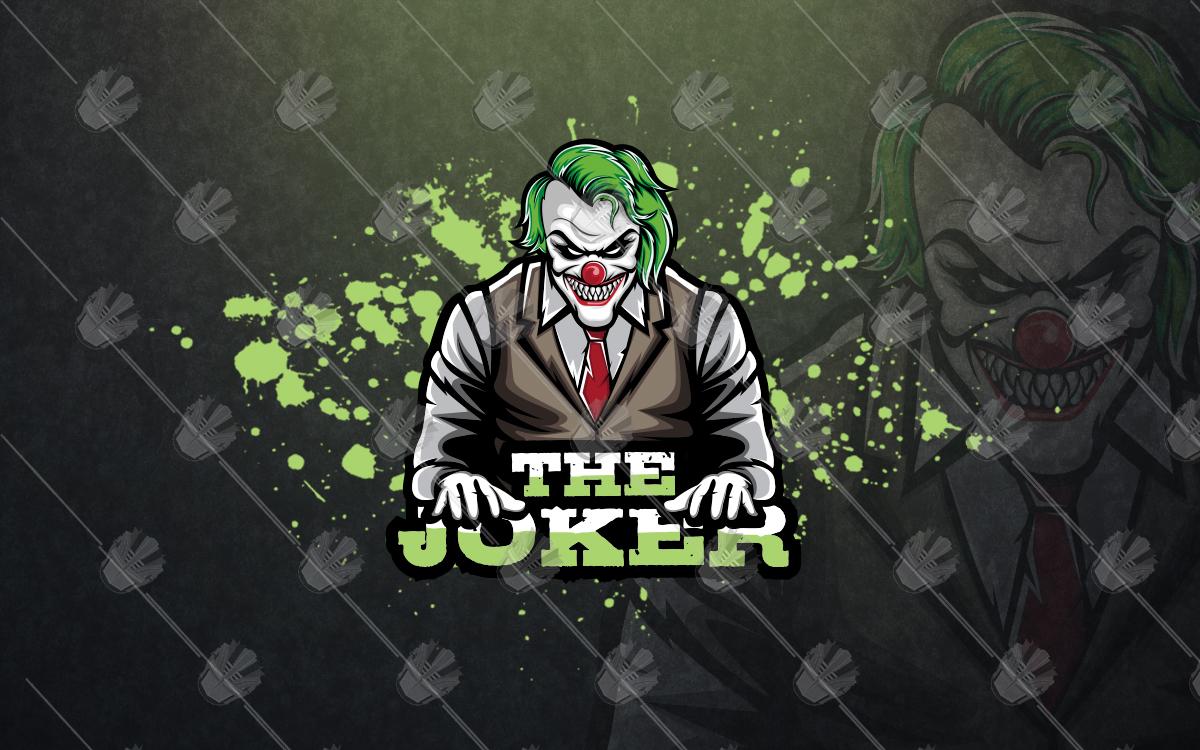 joker esports logo joker mascot logo