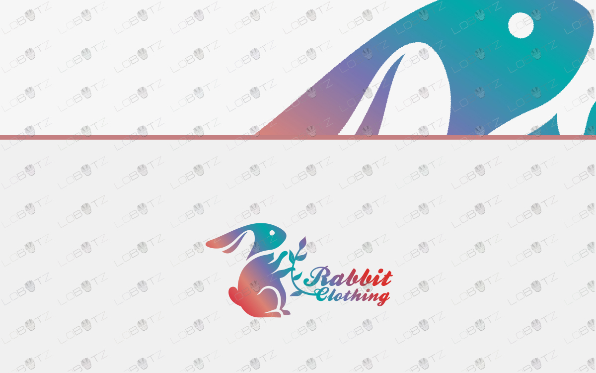 pretty and modern rabbit logo for sale