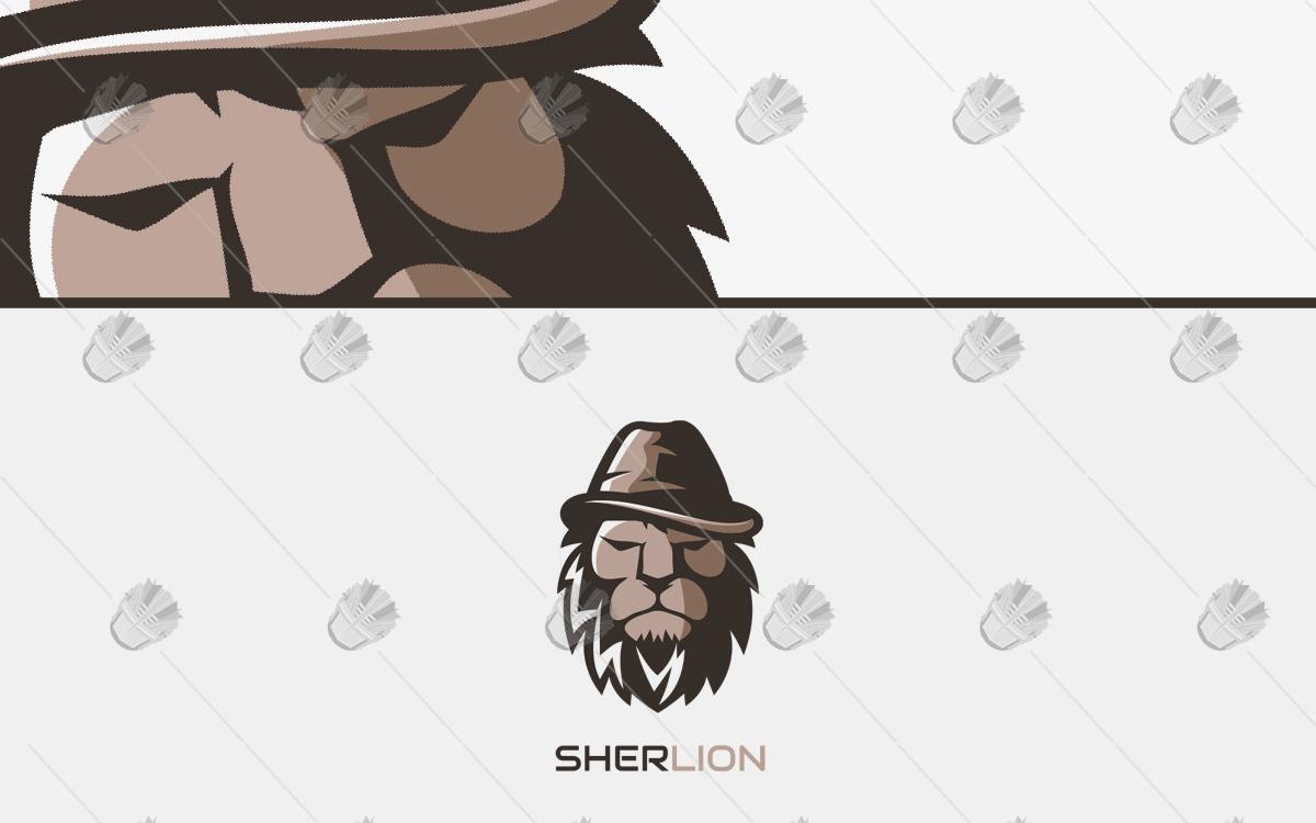 detective lion logo for sale