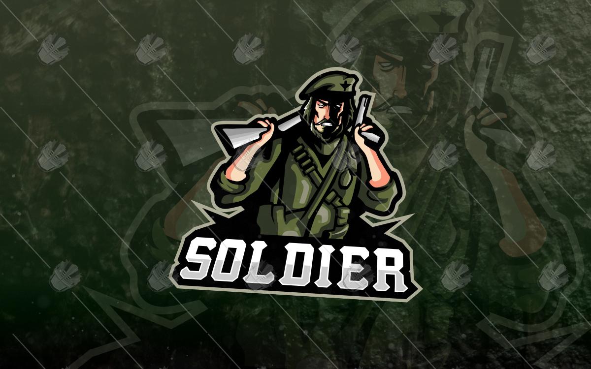Army Sol Esports Logo Mascot