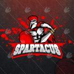 Spartacus eSports Logo | Spartacus Mascot Logo For Sale