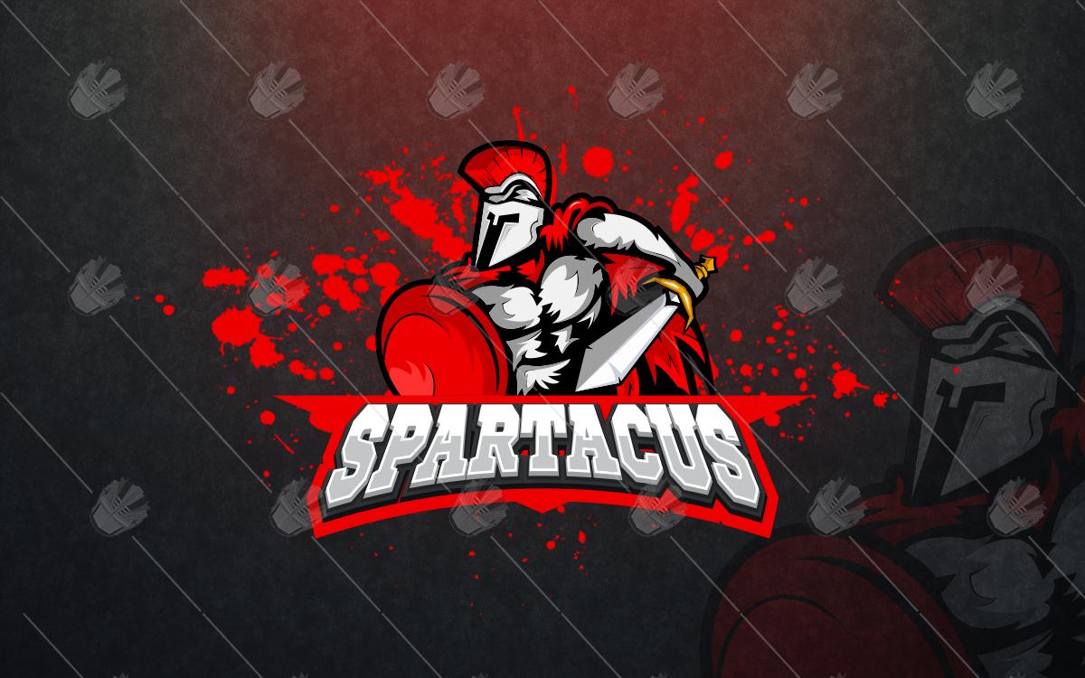 spartacusesports logo spartacusmascot logo