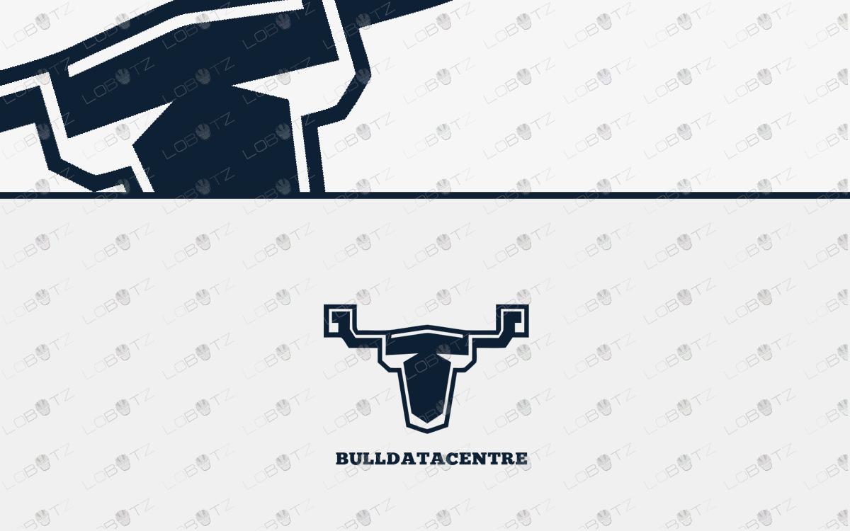 data bull logo for sale bull head logo