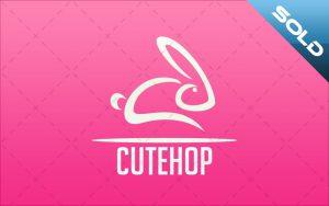 pretty bunny logo for sale