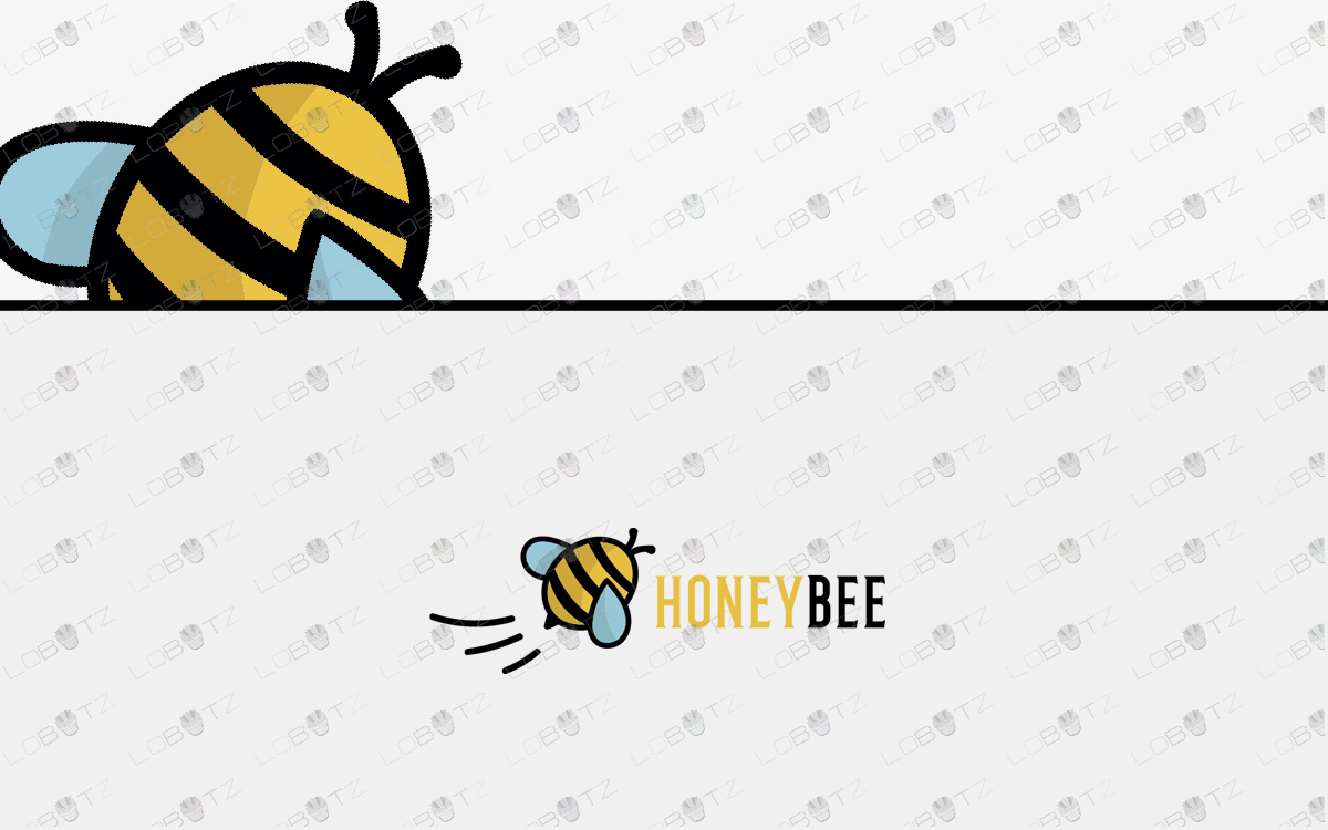 bee logo for sale honey logo