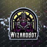 Robot Wizard Mascot Logo For Sale | Wizard eSports Logo