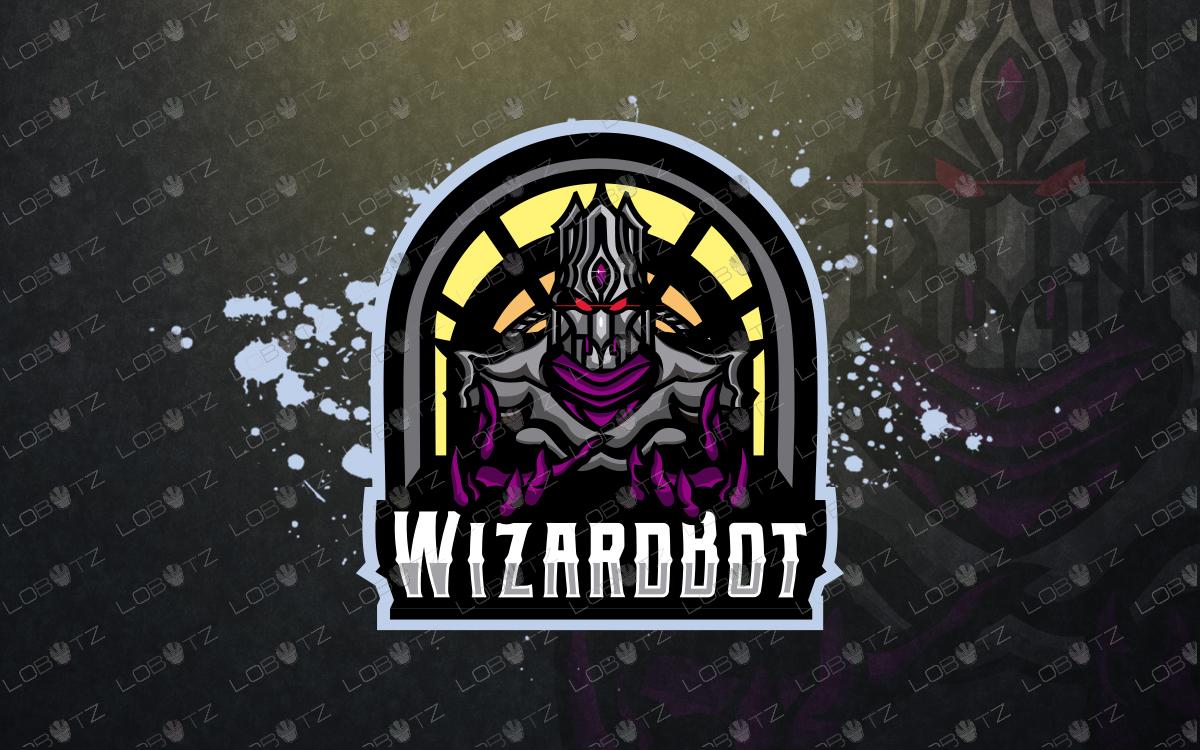 gaming robot wizard mascot logo