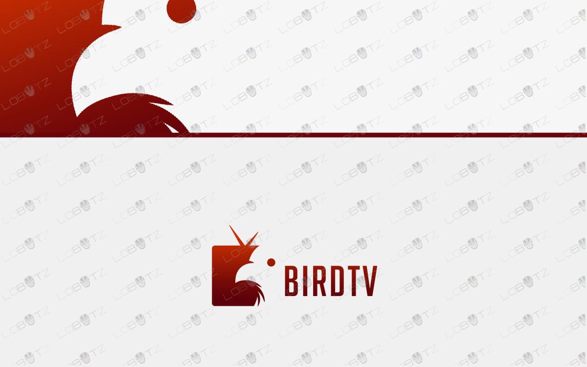 bird tv logo for sale television logo