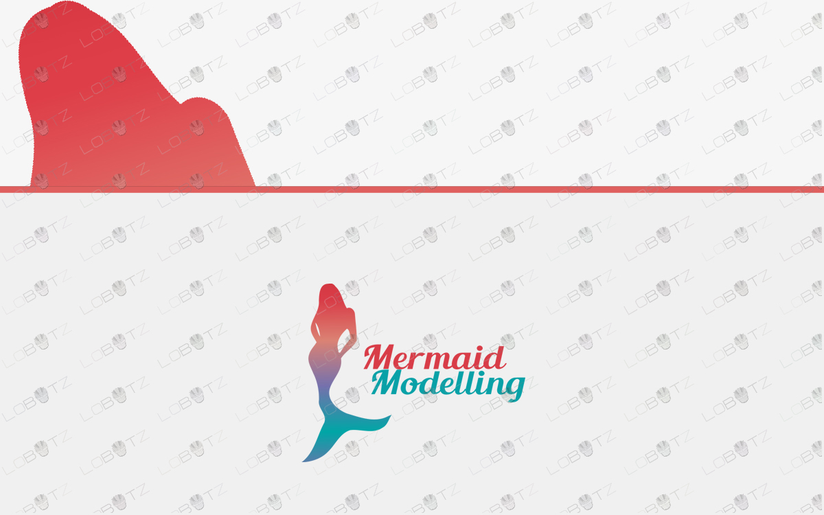 model beauty mermaid logo for sale