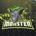 Monster Mascot Logo | Monster eSports Logo For Sale