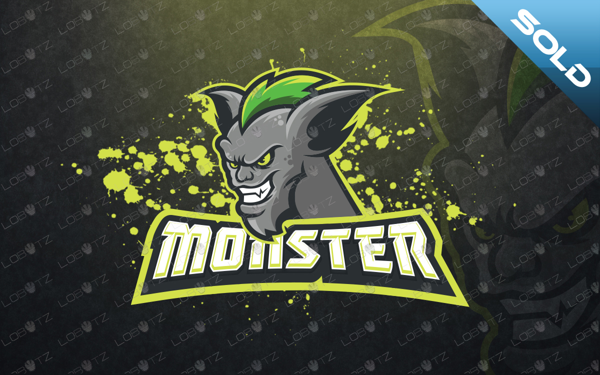 monster mascot logo for sale monster esports logo for sale