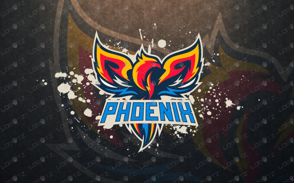 phoenix mascot logo phoenix esports logo for sale