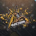 Poseidon Mascot Logo Poseidon eSports Logo For Sale