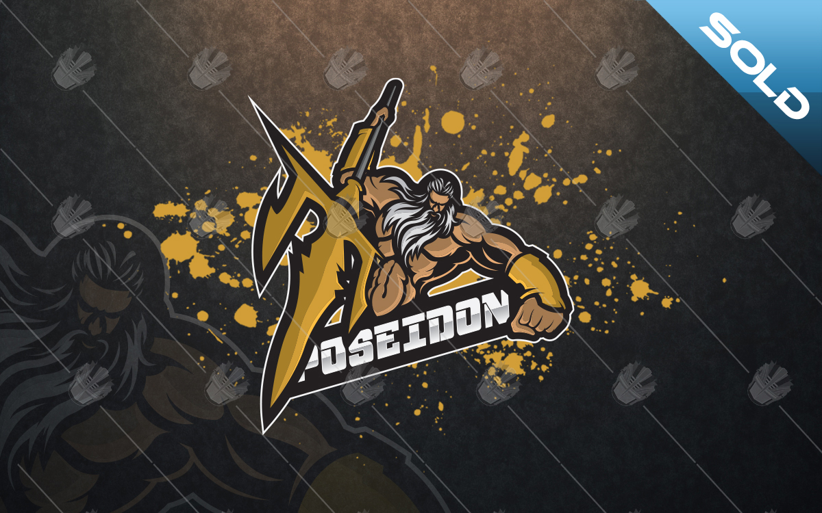 Poseidon mascot logo for sale