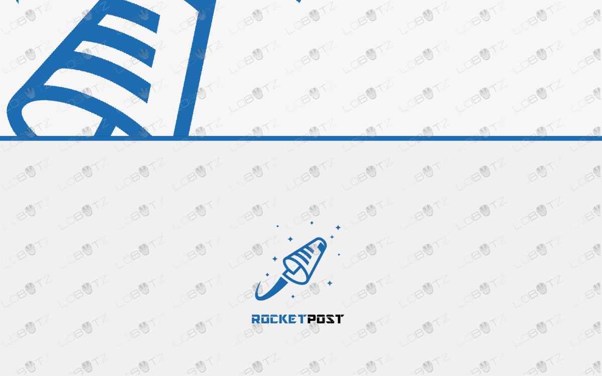 mail post paper rocket logo for sale