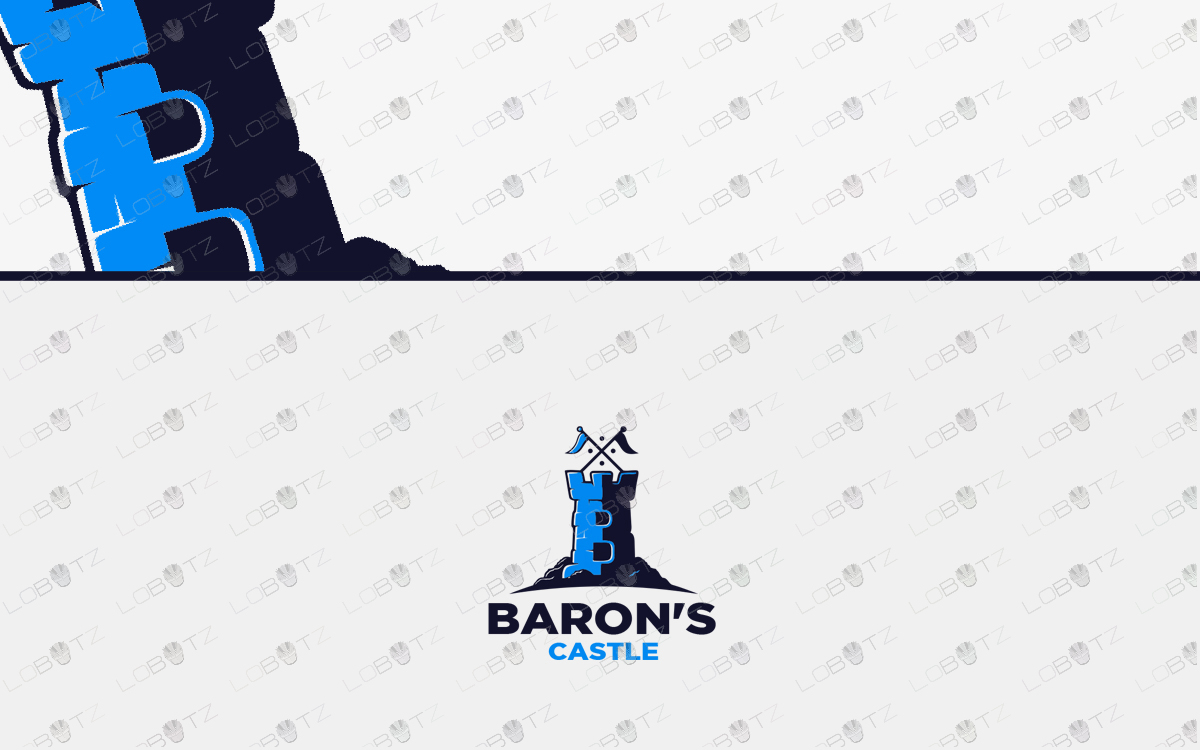 premade baron's castle logo for sale