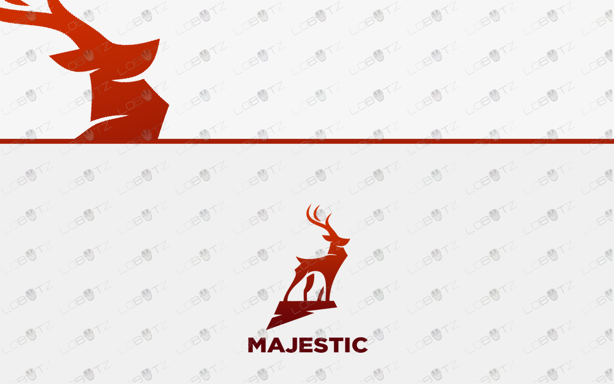 premade deer logo for sale