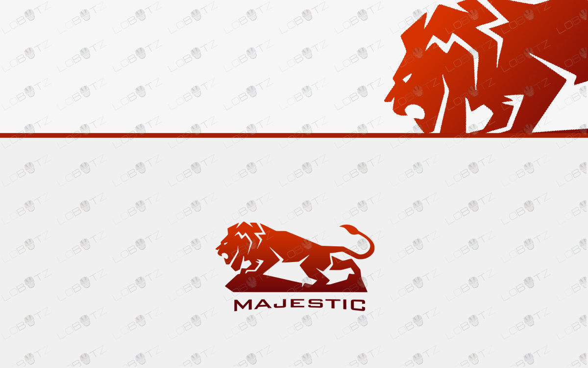 premade lion logo for sale