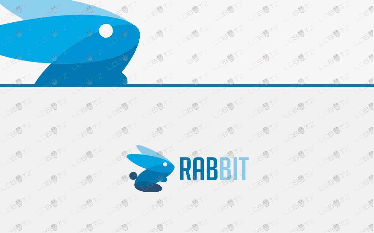 premade rabbit logo for sale