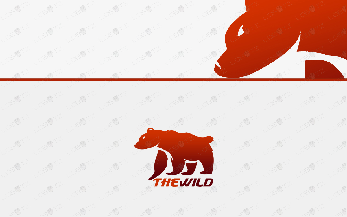 grizzly bear logo for sale