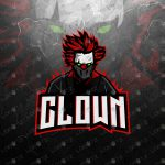 Clown Mascot Logo To Buy Online | Clown eSports Logo For Sale