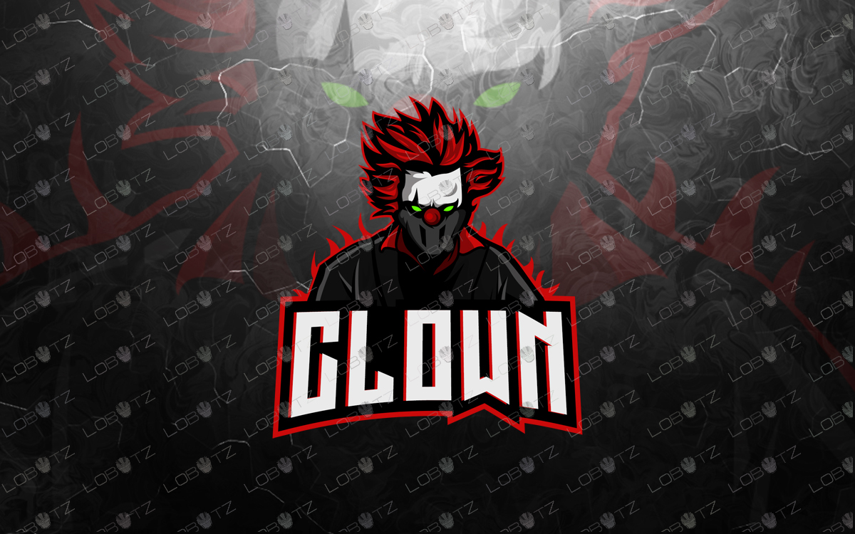 clown mascot logo clown esports logo for sale