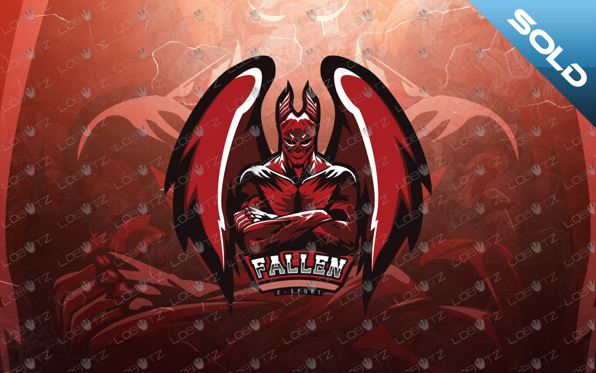 fallen angel esports logo fallen angel mascot logo
