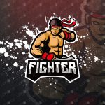 Premade Karate Fighter Mascot Logo | Karate Fighter eSports Logo