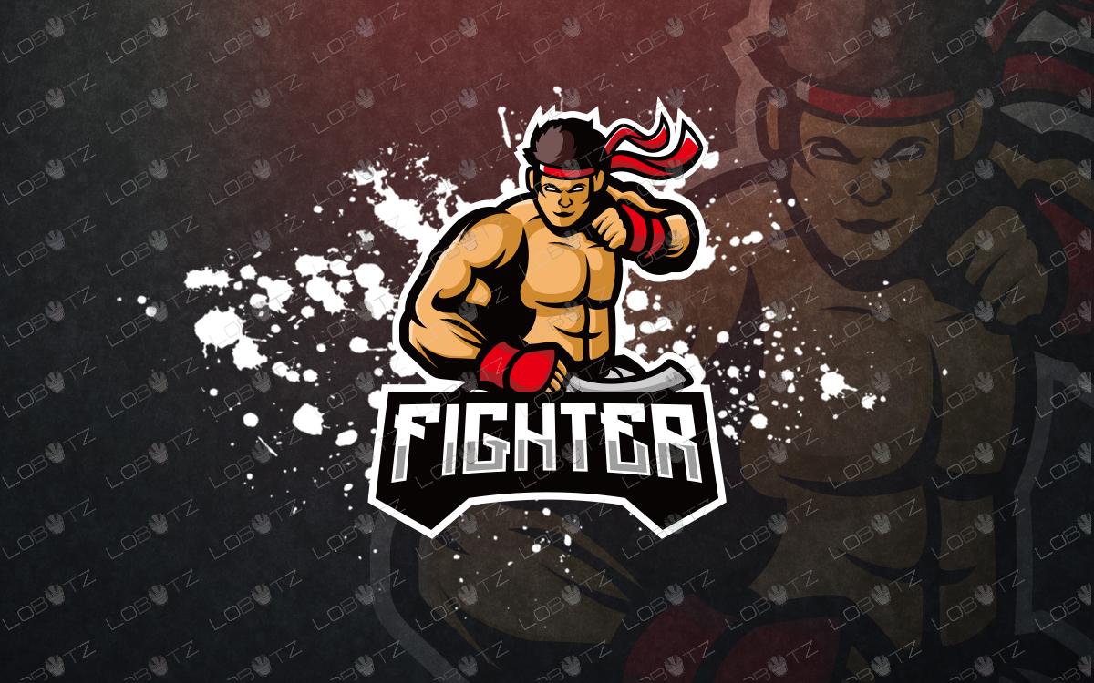 premadefighteresports logofightermascot logo