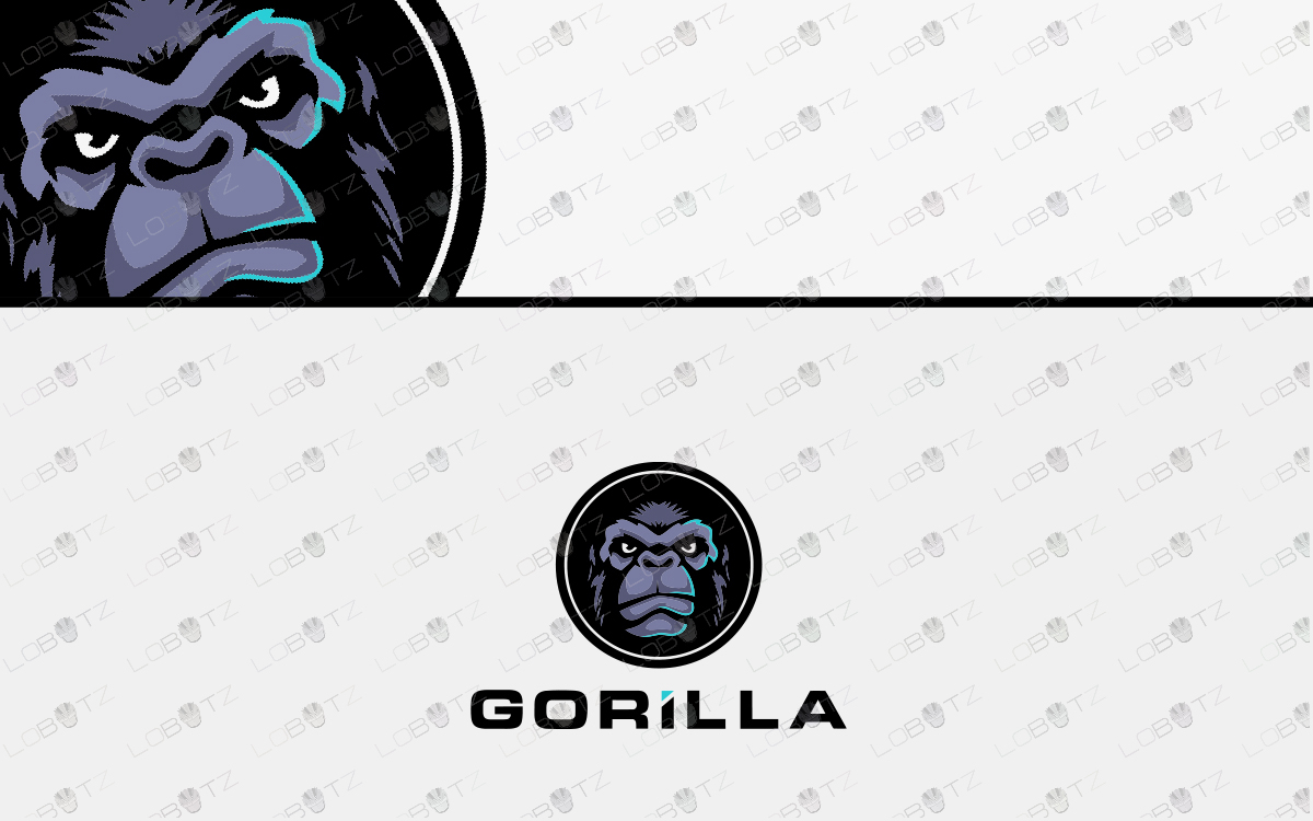premade gorilla logo for sale