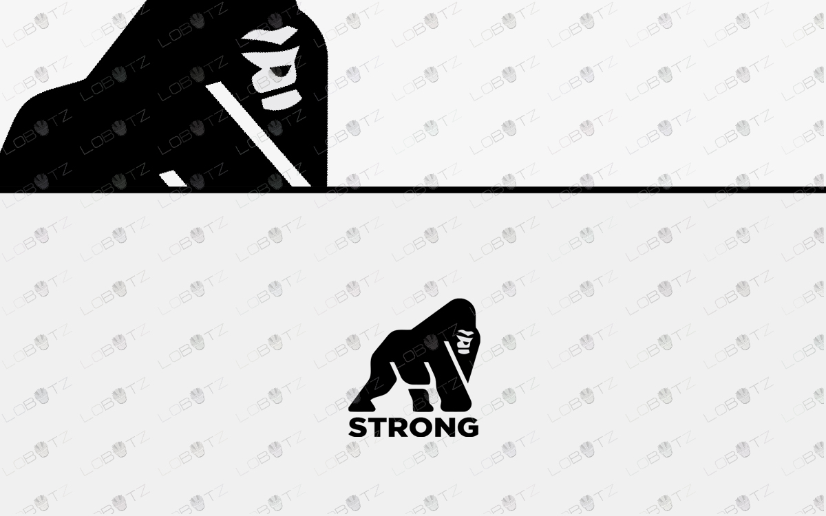 strong gorilla logo for sale