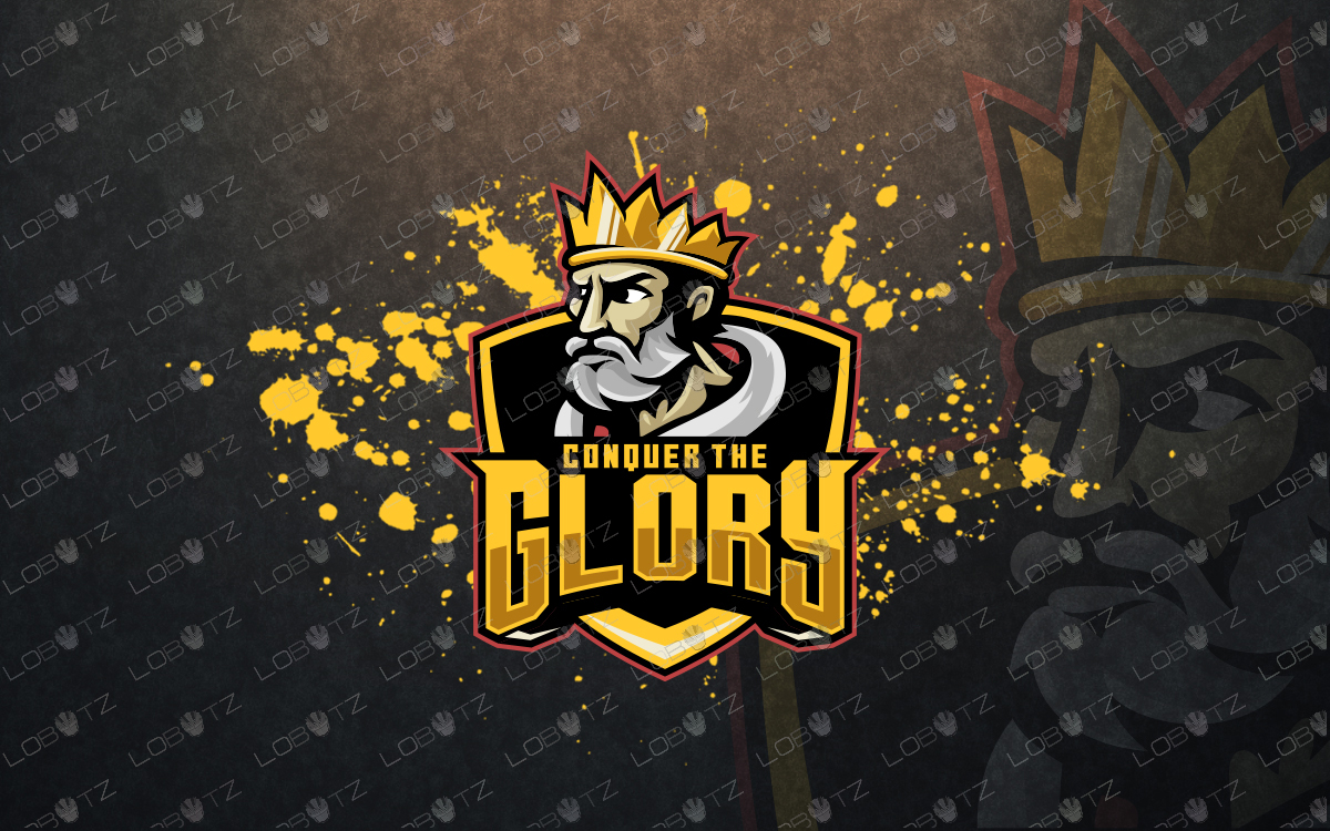 premade king mascot logo for sale