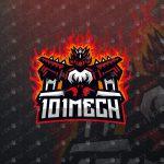 Mech Mascot Logo | Mech eSports Logo | Robot Mascot Logo