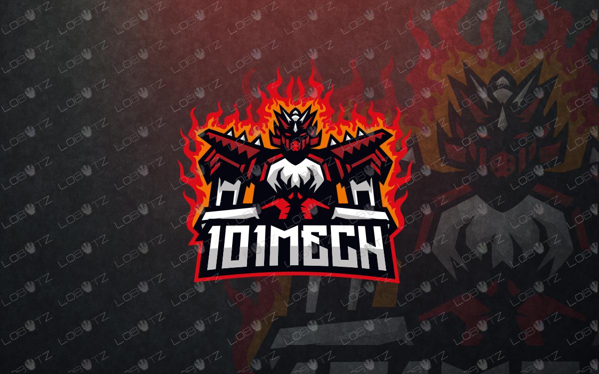 mech mascot logo mech esports logo