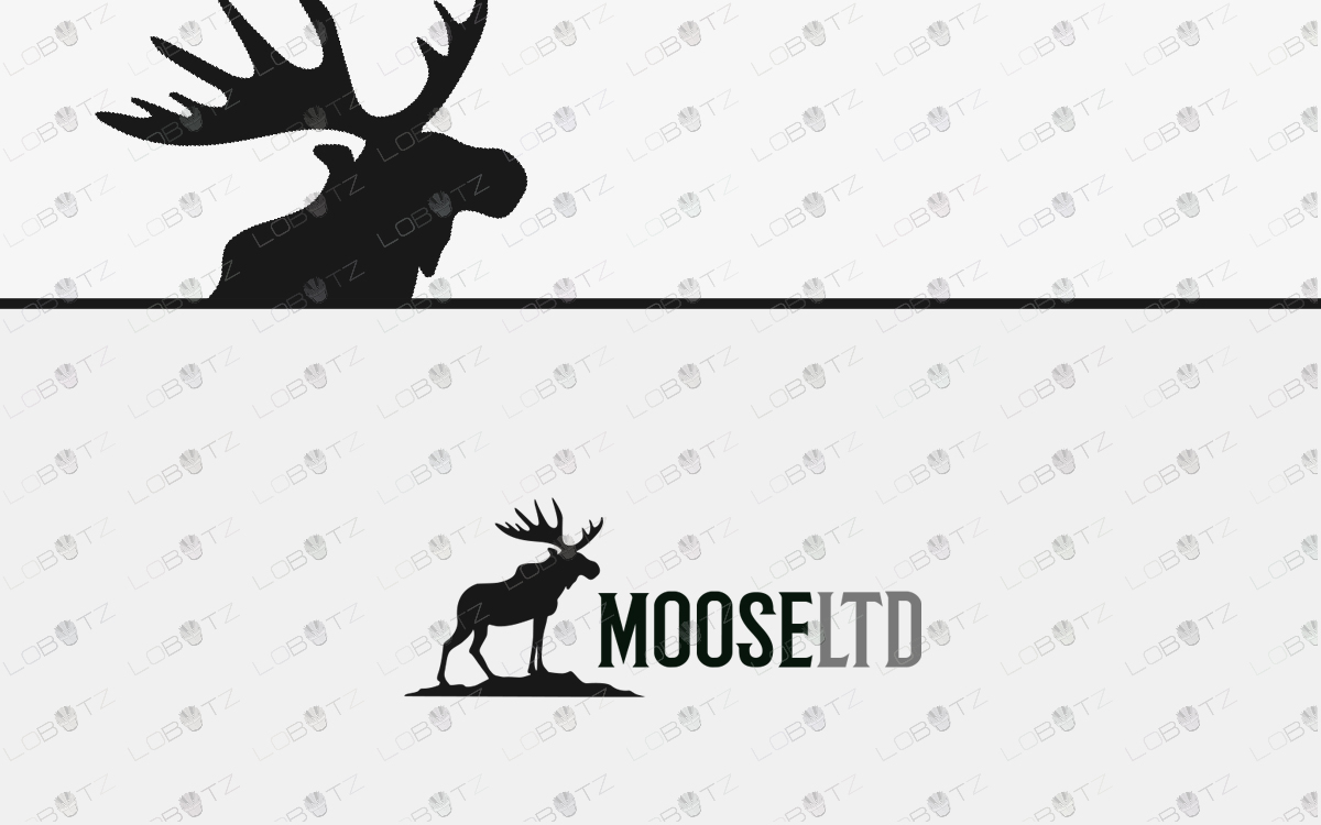 premade moose logo for sale