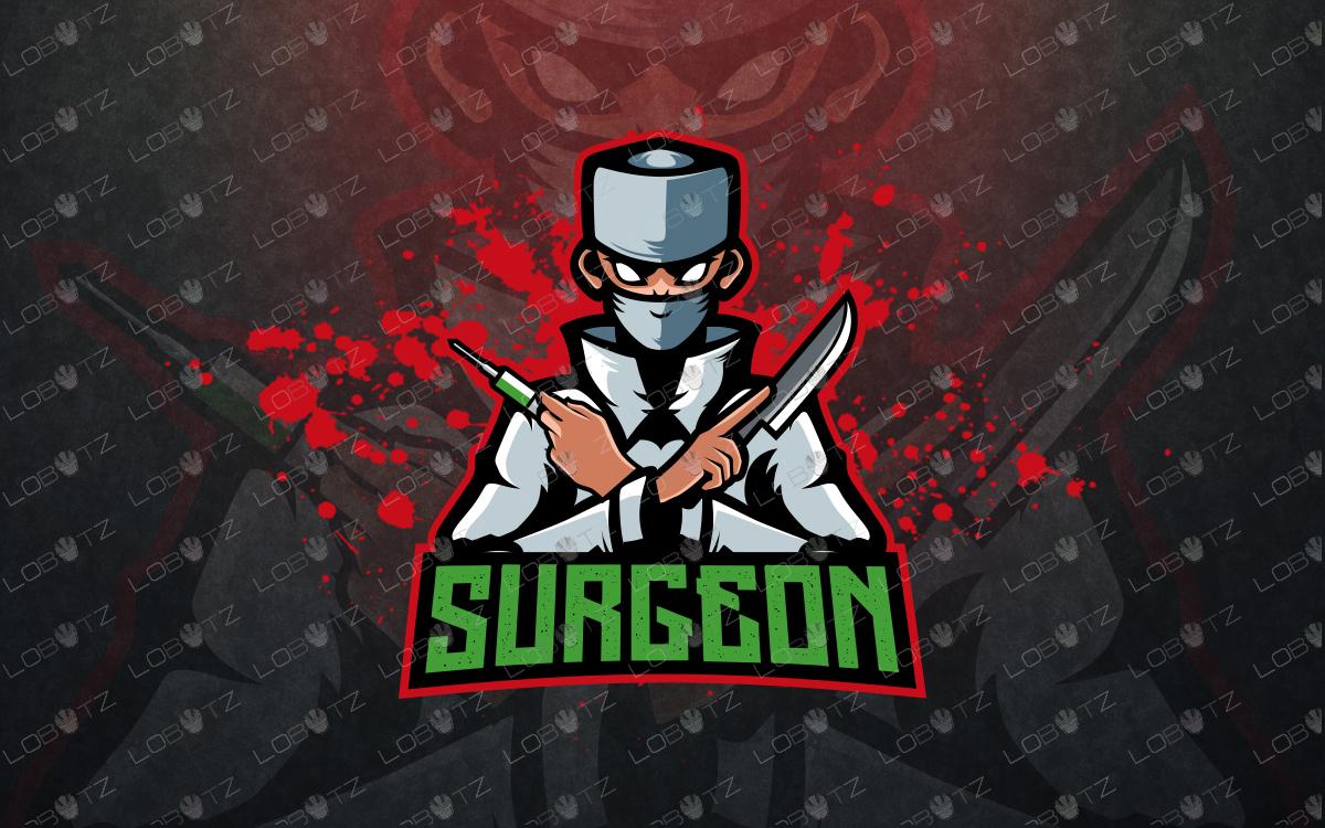 evil doctor mascot logo doctor esports logo